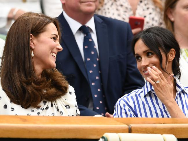 Meghan and Kate looked relaxed and excited about the upcoming Final. Picture: Clive Mason/Getty Images.