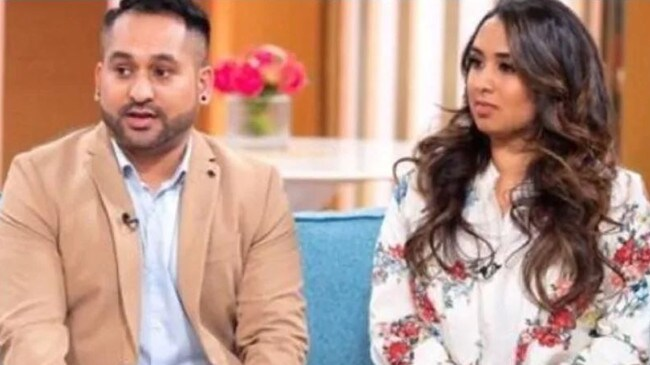 Sundeep and Shannen were shocked by the crew member's solution to their life-threatening allergies. Picture: This Morning/ITV