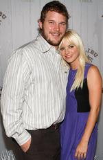 Actor Chris Pratt (L) and actress Anna Faris attend the Poolside Summer Party to celebrate the Malibu and Reef Check Partnership at a private residence on August 11, 2009. Picture: Michael Buckner/Getty Images