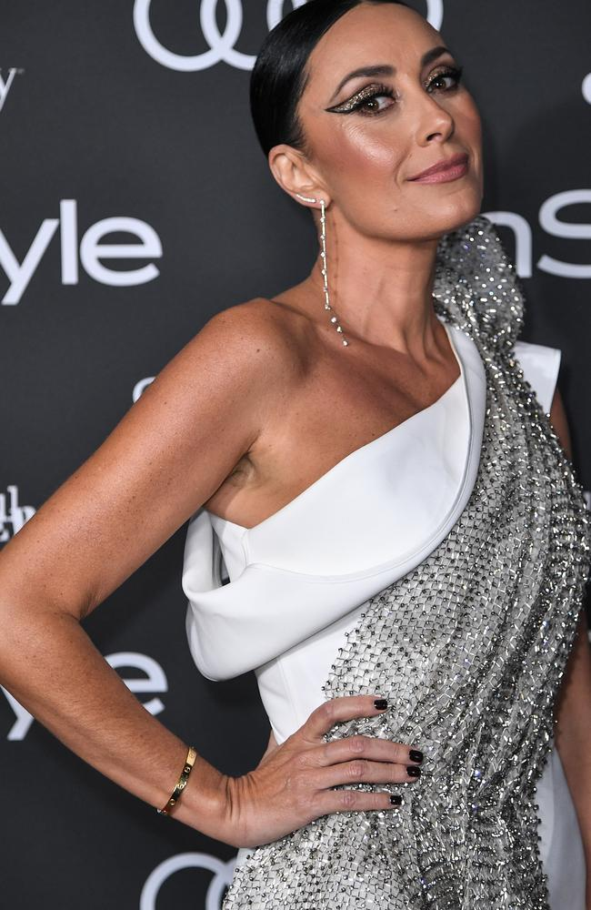 Terry Biviano wore a glitzy Tony Maticevski dress. Picture James Gourley/Getty Images