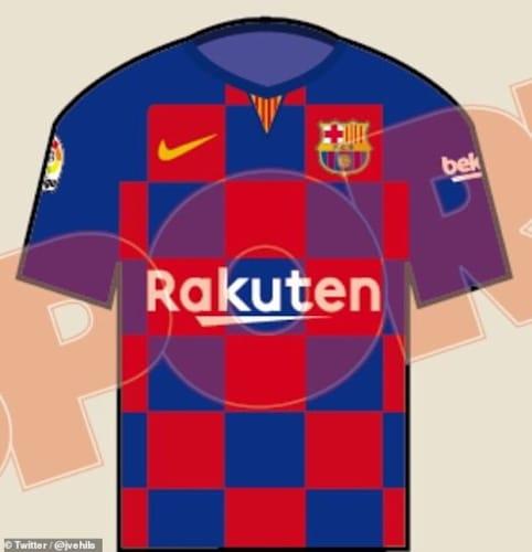 Football Barcelona New Kit Nike Chequered Twitter Latest News Fox Sports