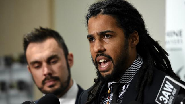 Joel Wilkinson speaks out against 'systematic' racism in the AFL. Picture: Nicole Garmston