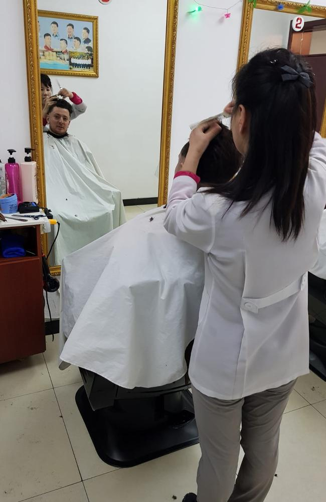 A haircut, North Korean style. Picture: Tommy Walker
