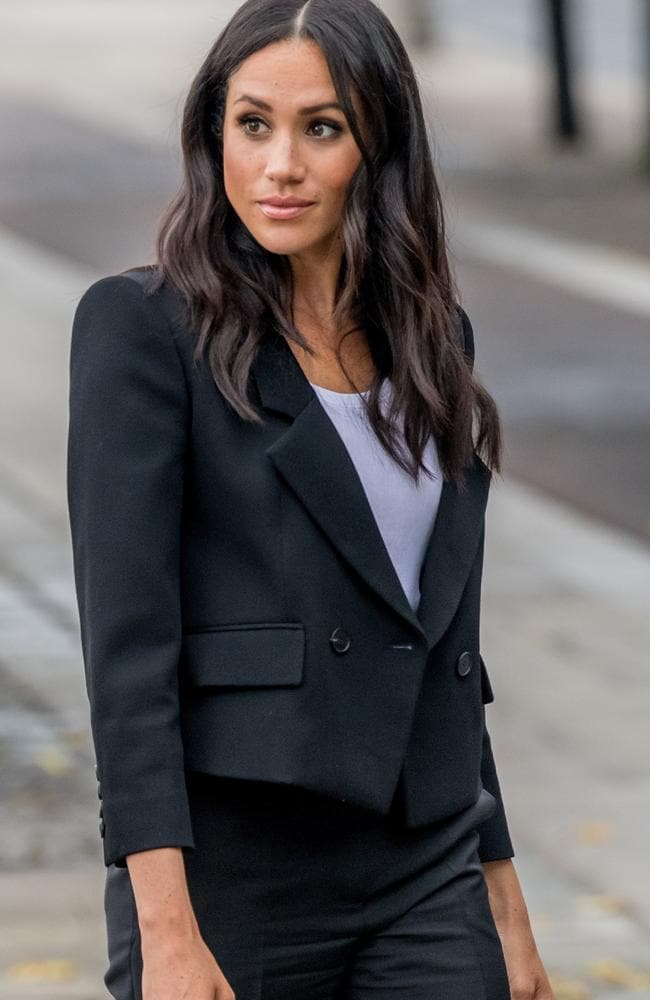 Meghan and Harry in Ireland, where she donned a smart Givenchy trouser suit. Picture: Mega