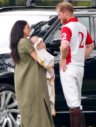 It was one of the first times baby Archie had been seen in public. Picture: Getty Images.