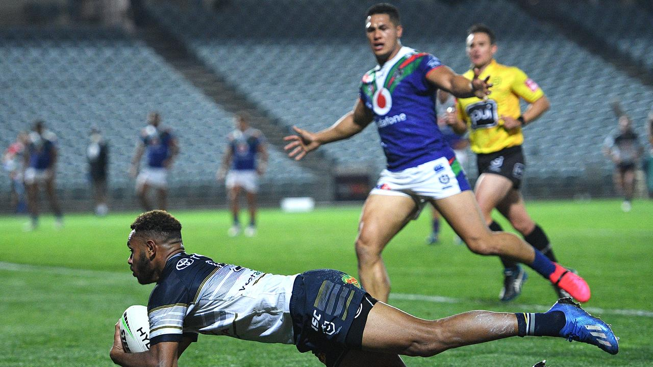 The 'Hammer' Hamiso Tabuai-Fidow is one of the fastest players in the NRL and an exciting SuperCoach prospect. Picture: AAP.