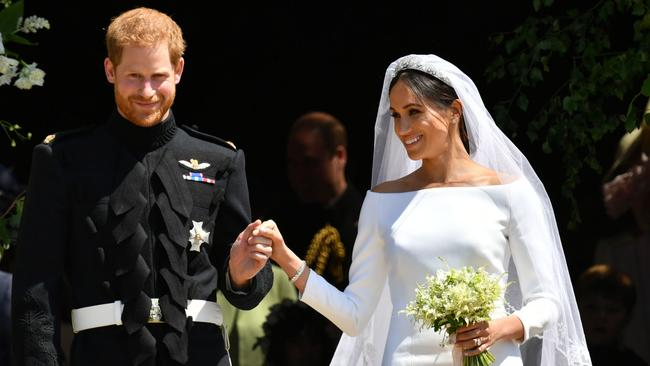 As many as 120,000 people turned up to watch Harry and Meghan get married. Picture: Ben Birchall — WPA Pool/Getty Images