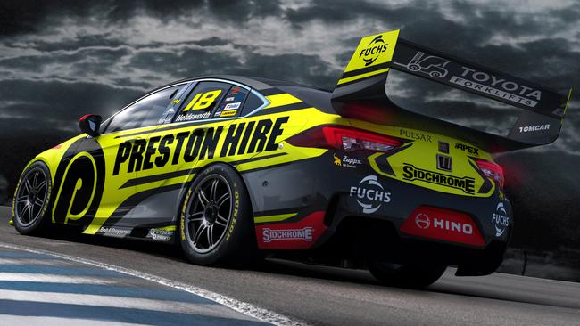 Lee Holdsworth's new-look Preston Hire Racing Holden ZB Commodore for 2018.