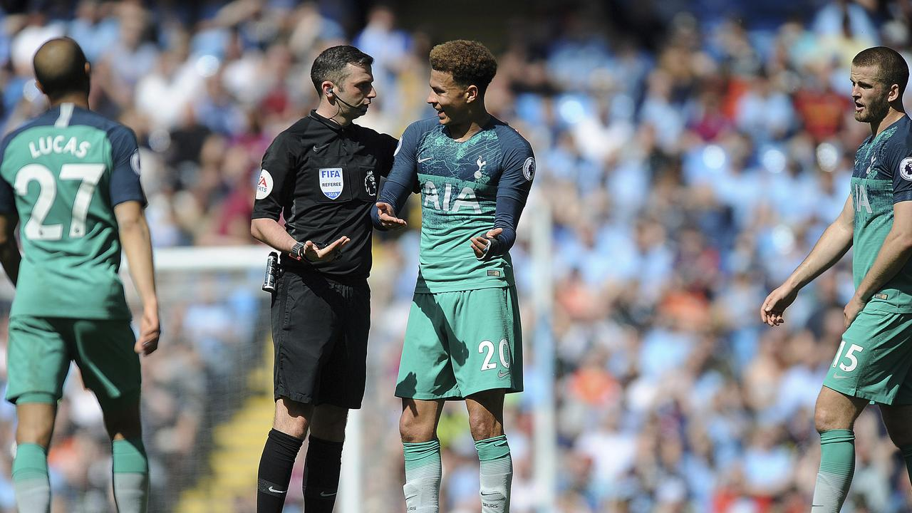 Tottenham's cries for a penalty fell on deaf ears after Kyle Walker appeared to handle in the box.