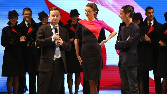 The new Qantas uniform by Australian designer Martin Grant has been launched. Picture: Nic Gibson/The Daily Telegraph