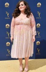 Aidy Bryant attends the 70th Emmy Awards at Microsoft Theater on September 17, 2018 in Los Angeles, California. (Photo by Frazer Harrison/Getty Images)