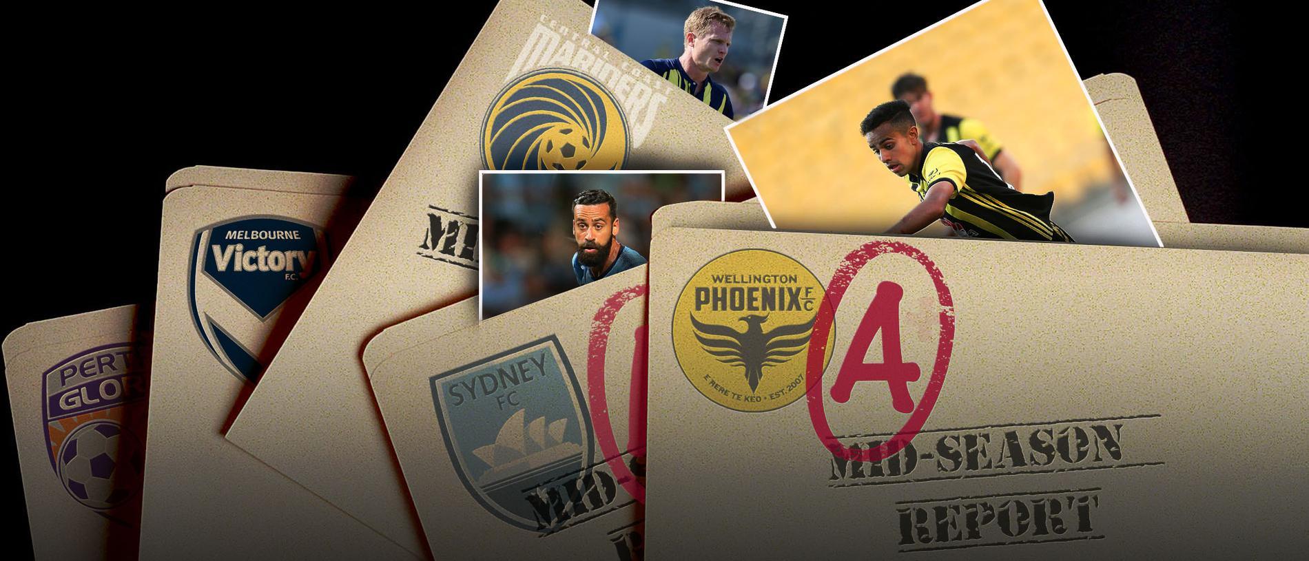 The A-League's mid-season report card.