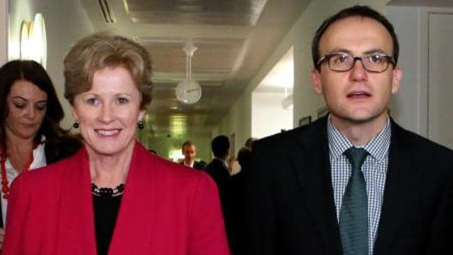 Greens leader Christine Milne with MP Adam Bandt.