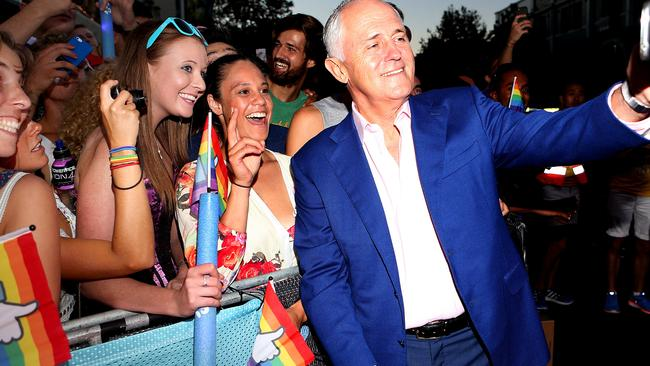 Malcolm Turnbull a attended Sydney's Mardi Gras parade earlier this month.