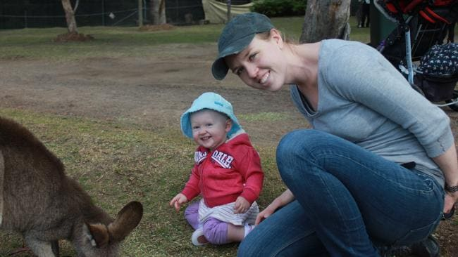 Family fun ... Sydney's Samantha Kirton and daughter Skye live simply so they can get away regularly. Picture: Supplied.