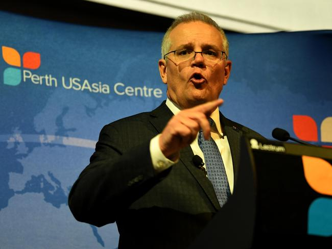 Scott Morrison is open to resuming dialogue with China but says Australian values are non-negotiable.  Image: Sharon Smith/NCA NewsWire