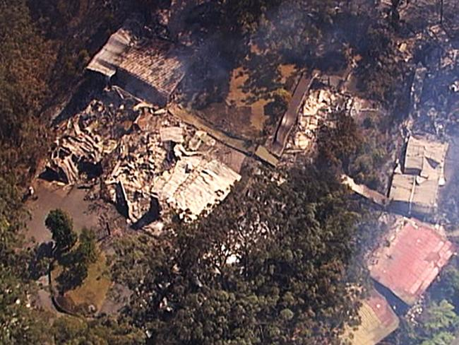 Binna Burra Lodge was destroyed. Picture: Channel 7