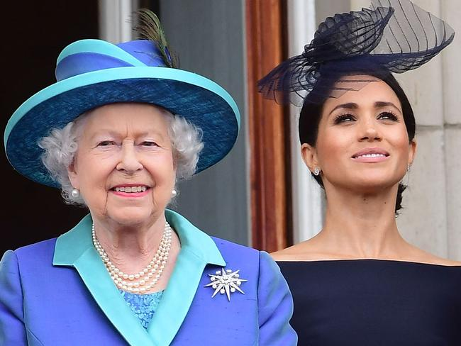 Queen Elizabeth II and Meghan, Duchess of Sussex. Picture: Getty