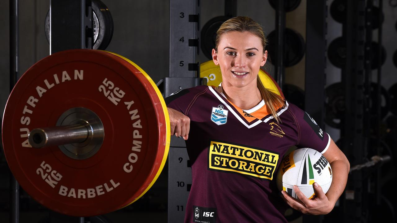 Julia Robinson has moved from Townsville to play for the Broncos in the inaugural women's NRL competition. Pic: John Gass