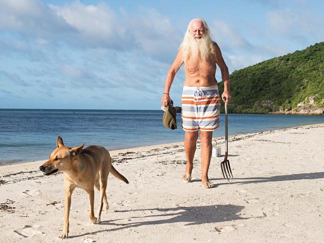 David Glasheen, ex-millionaire, and his tropical island refuge