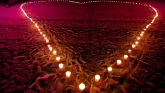 Candles in a heart shape laid out on the beach failed to convince Elva who said Jho was like 'a little brother'.