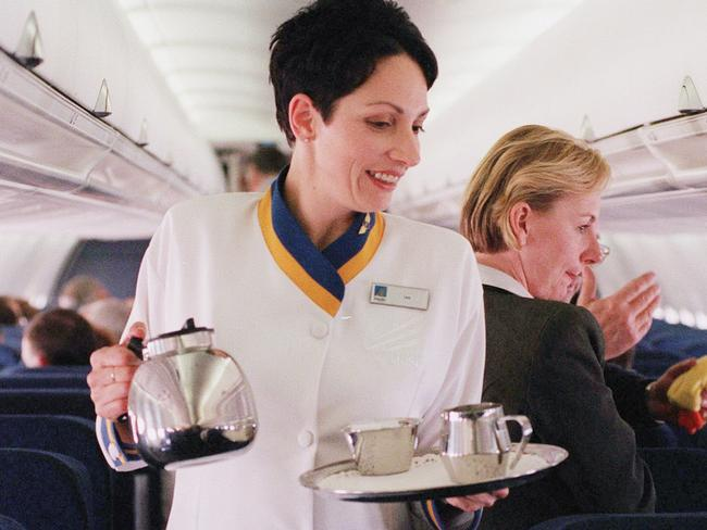 Next time the air hostess asks if you'd like coffee, just say no. Picture: News Limited