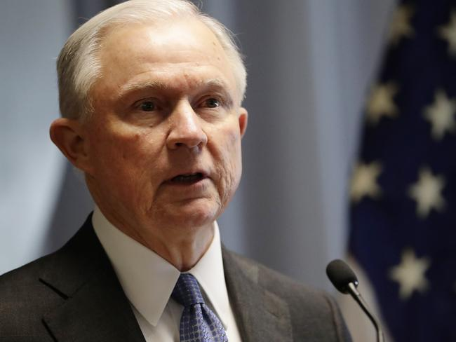 Attorney General Jeff Sessions has recused himself on anything to do with Russia. Picture: AP