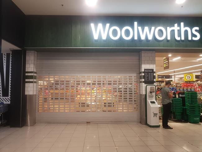 Woolworths Hilton, in South Australia, which has been forced to shut down. Picture: Greg Barila, News Corp Australia