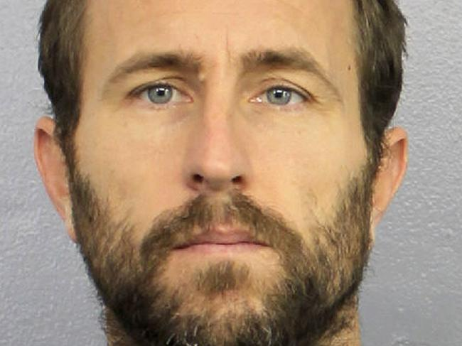 Lewis Bennett, 41, has pleaded guilty to involuntary manslaughter after his wife disappeared from their sunken catamaran in the Florida Straits. Picture: Broward Sheriff's Office/PA Wire
