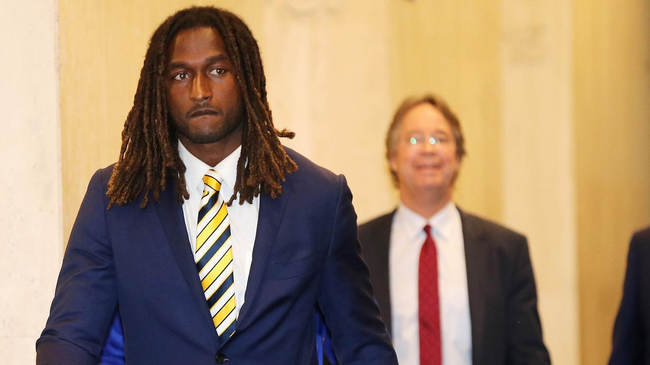 West Coast Eagles ruckman Nic Naitanui after his AFL tribunal appearance. Photo: Nic Ellis/The West Australian