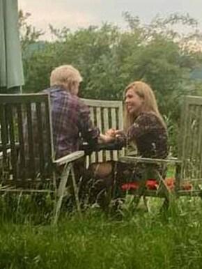 Boris Johnson and Carrie Symonds. 'staged' Boris Johnson and Carrie Symonds picture released Monday. Supplied