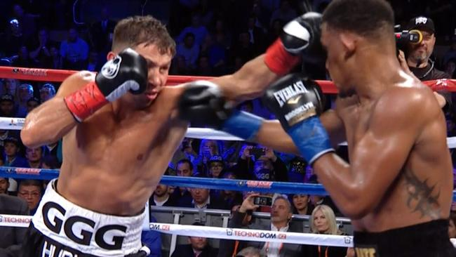 Golovkin vs Jacobs at Madison Square Garden.