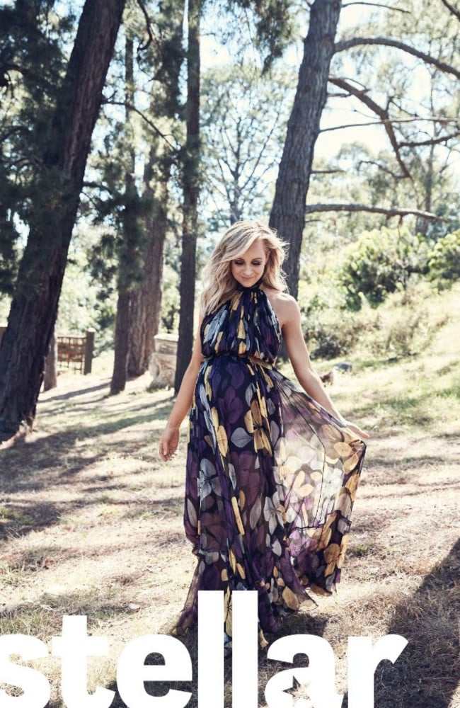 "Bickmore says she is both ""terrified and excited"" about being a mother of three. Picture: Damian Bennett / Stellar Magazine"