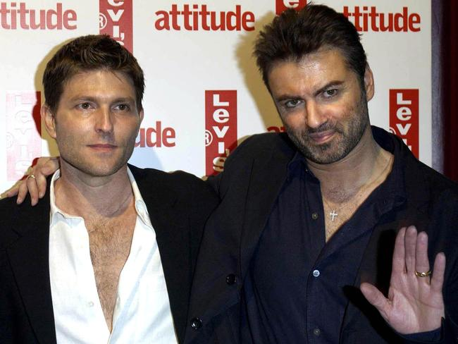 George Michael (R) and his then-partner Kenny Goss. Picture: Supplied