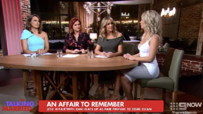 The Talking Married hosts didn't seem too impressed by Jessika. Source: Channel 9