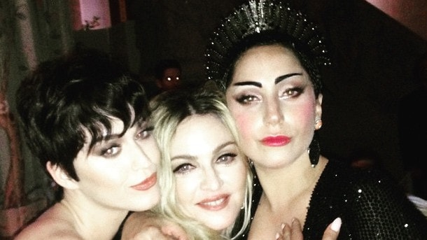 At the Met Ball with Katy Perry and Lady Gaga. Picture: Instagram