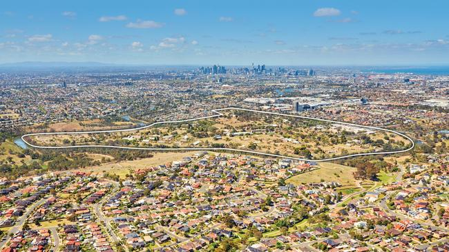 The 128-hectare development site being sold by the Defence Department at 2 Cordite Ave, Maribyrnong.