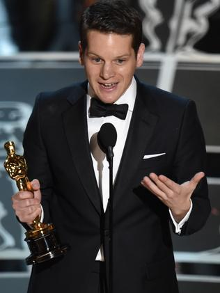 'Stay you' ... Best Original Screenplay winner Graham Moore shared a heartbreaking personal story.
