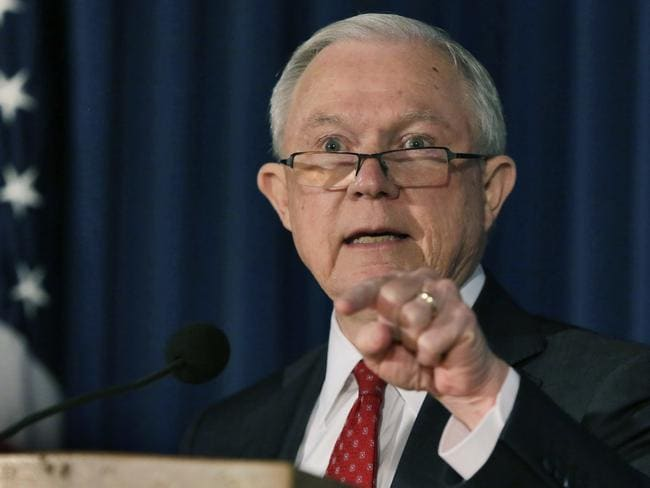 US Attorney-General Jeff Sessions is reportedly open the possibility that a special counsel could be appointed to look into Clinton Foundation. Picture: AP/Richard Drew