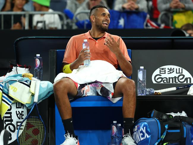 Nick Kyrgios happily corrected the umpire even though it was to his disadvantage.
