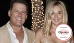 Karl Stefanovic and Jasmine Yarbrough pictured in Cabo the night before their wedding. Image: Supplied