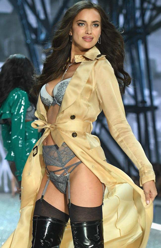 Irina Shayk walks during the 2016 Victoria's Secret Fashion Show. Picture: Getty