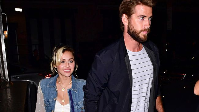 Miley Cyrus and Liam Hemsworth New York City. Photo by James Devaney GC Images