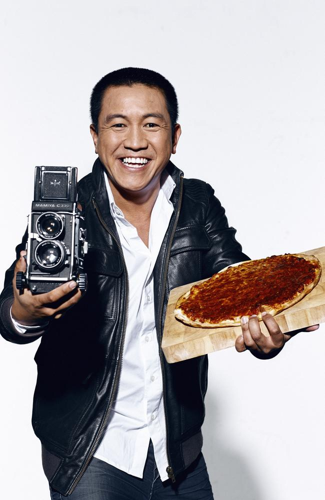 You wanna pizza me? ... Anh Does Italy host Anh Do. Picture: Nigel Lough