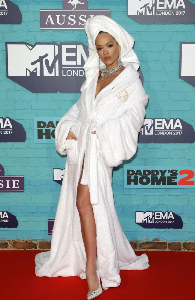 Rita Ora at the MTV EMAs, held at The SSE Arena in London. Picture: Getty Images
