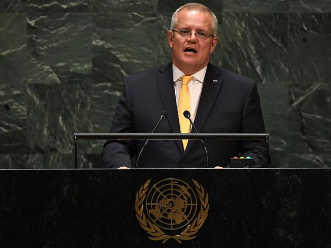 Mr Morrison attended nine summits in the first 16 months of his prime ministership. Picture: Timothy A. Clary/AFP