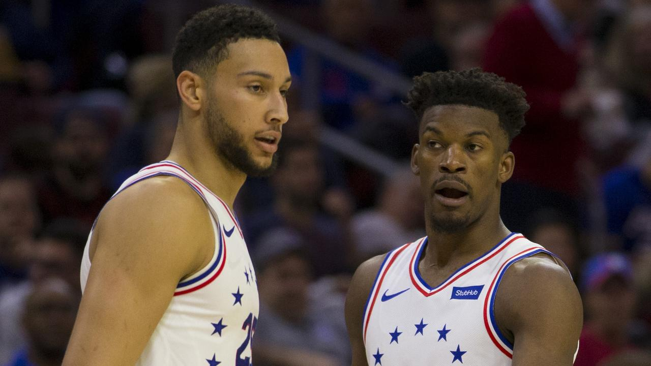 Ben Simmons and Jimmy Butler during their days playing together. (Photo by Mitchell Leff/Getty Images)