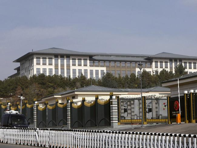 The vast new palace has an area of 200,000 square meters. AFP PHOTO/ADEM ALTAN