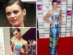 Model Montana Cox arrives at the Aria Awards 2014 in Sydney. Pictures: Bradley Hunter