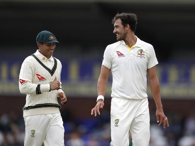 Usman Khawaja is out but Mitchell Starc is in. (Photo by Ryan Pierse/Getty Images)